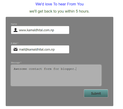 awesome blogger contact form