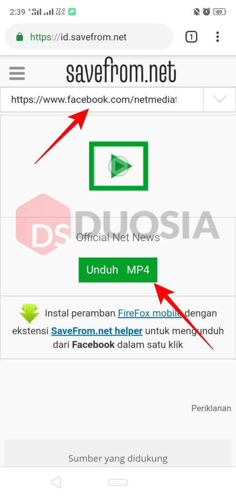 download video facebook android online