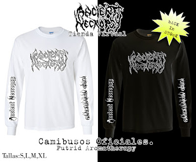 Ancient Necropsy Merch Putrid aromatherapy camibusos t shirt