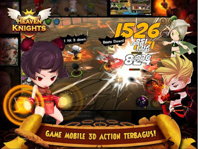 Heaven Knights Apk Mod High Damage + Defense + SKill