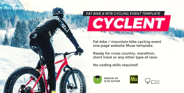 Mountain Bike Event Website Theme