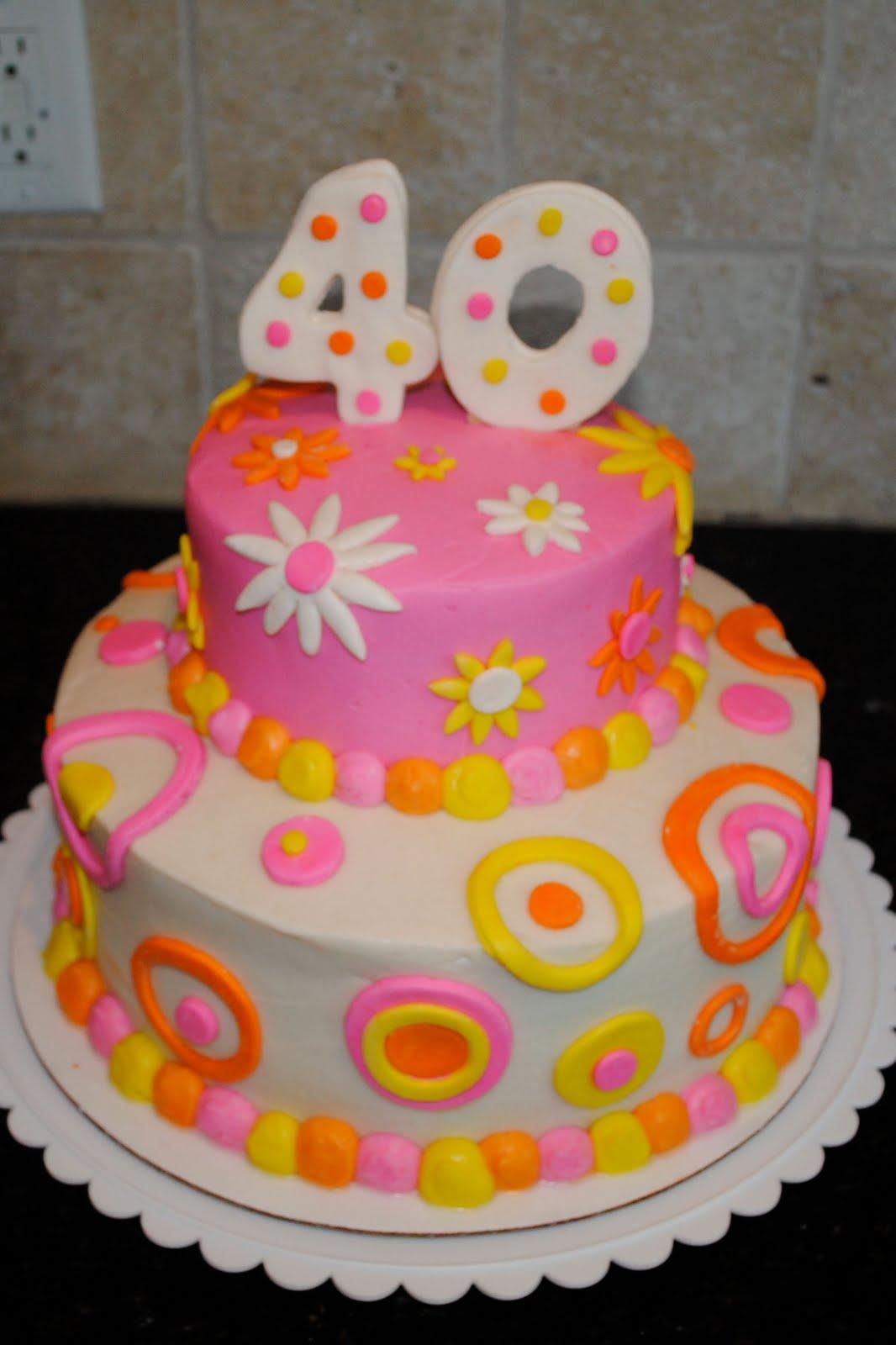 Sweet G 40th Birthday Cake