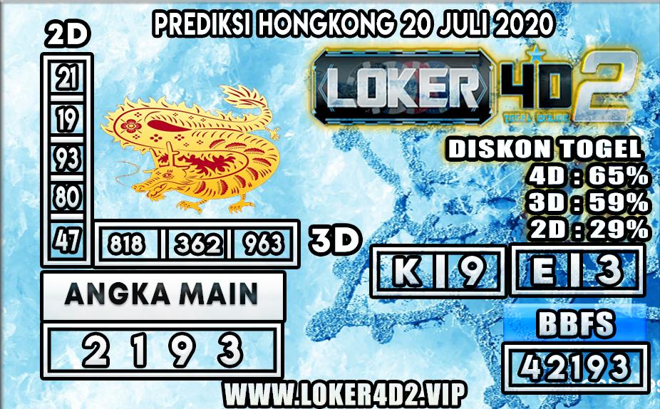 PREDIKSI TOGEL LOKER4D2 HONGKONG 20 JULI 2020