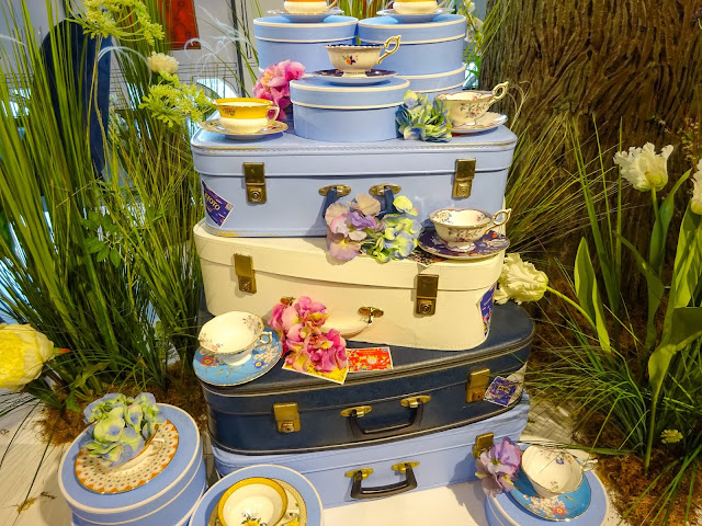 Wedgwood Decorative Stacked Cases and Teacups
