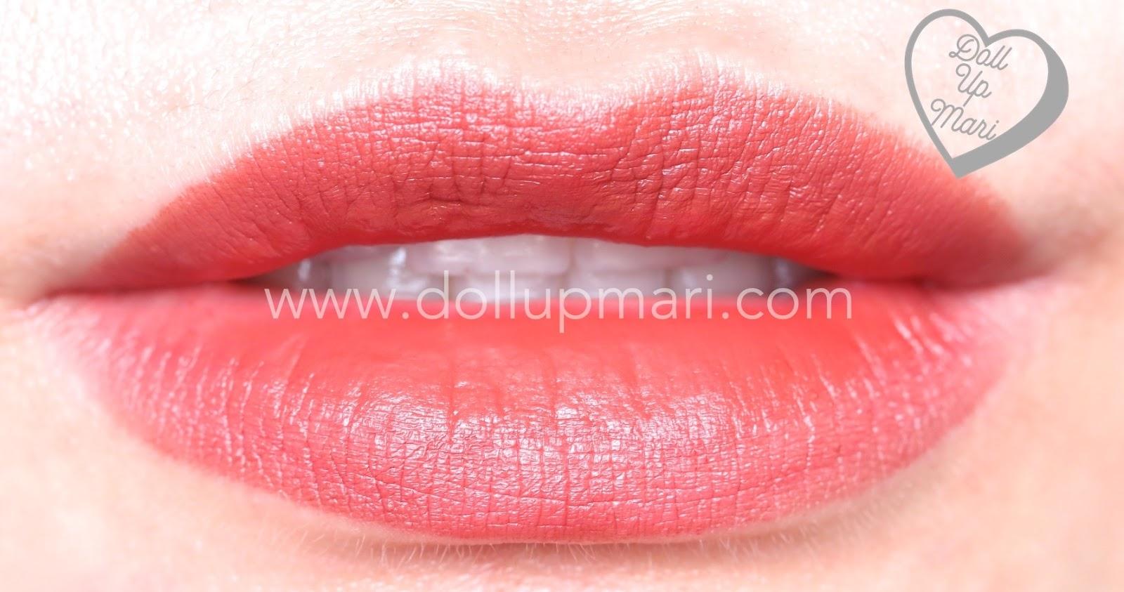 lip swatch of Silkygirl OMG! Powder Matte Lipcolor Lipstick (04-Maroon)