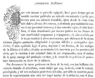 Fragmento del texto publicado en El Álbum de la Mujer