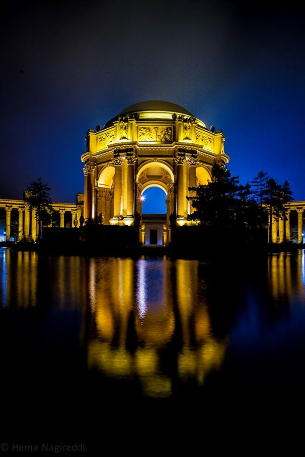 Travellingcamera Team keep looking for some interesting Photo Stories and this time we requested Hema to share some of the photographs from her Night Photography shoot from San Francisco. So enjoy this beautiful Photo Journey from San Francisco and also learn few things about Night Photography.  San Francisco is a beautiful City and a leading financial/cultural center of Northern California in USA. San Francisco is most densely settled large city in the state of California and the second-most densely populated major city in the United States after New York. San Francisco is the fourth most populous city in California, after Los Angeles, San Diego and San Jose.  San Francisco was founded in 1776, when colonists from Spain established a fort at the Golden Gate and a mission named for St. Francis of Assisi a few miles away. San Francisco was destroyed by the 1906 earthquake and fire.. But then it was quickly rebuilt, hosting the Panama-Pacific International Exposition nine years later.The Golden Gate Bridge is a suspension bridge spanning the Golden Gate strait and three mile long channel between San Francisco Bay and the Pacific Ocean. The structure links the beautiful city San Francisco to Marin County. It is one of the most internationally recognized symbols of San Francisco, California, and the United States. Golden Bridge has been declared as one of the Wonders of the Modern World by the American Society of Civil Engineers The Frommers travel guide considers the Golden Gate Bridge 'possibly the most beautiful, certainly the most photographed, bridge in the world'.To know more about Golden Bridge, check out - http://en.wikipedia.org/wiki/Golden_Gate_BridgeNight Photography needs lot of patience and practice to get decent results It's not very different from other types of photography but right knowledge of gadgets to be used is critical. Without repeating some of the standard practices, I would share one of the favorite links which talks about Night Photography wit