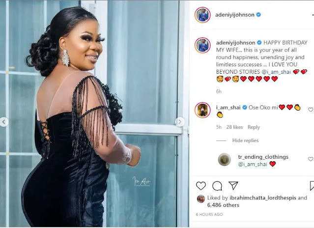 I love you beyond stories- Adeniyi Johnson, celebrates his wife as she turns a year older (Photos)