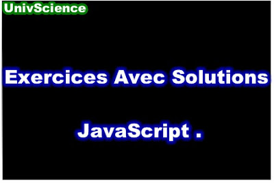 Exercices Avec Solutions JavaScript PDF.