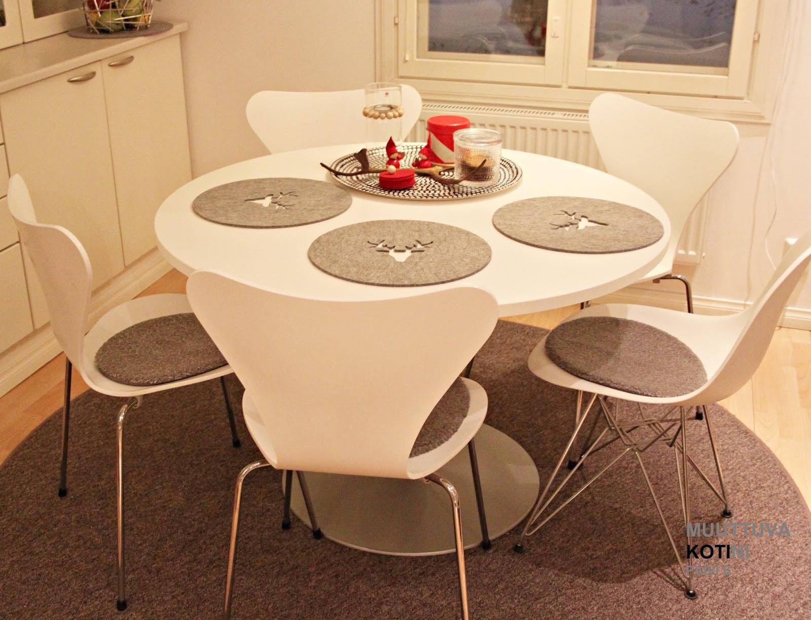 MUUTTUVAKOTINI BLOGI Keittiön pöytä ja lamppu