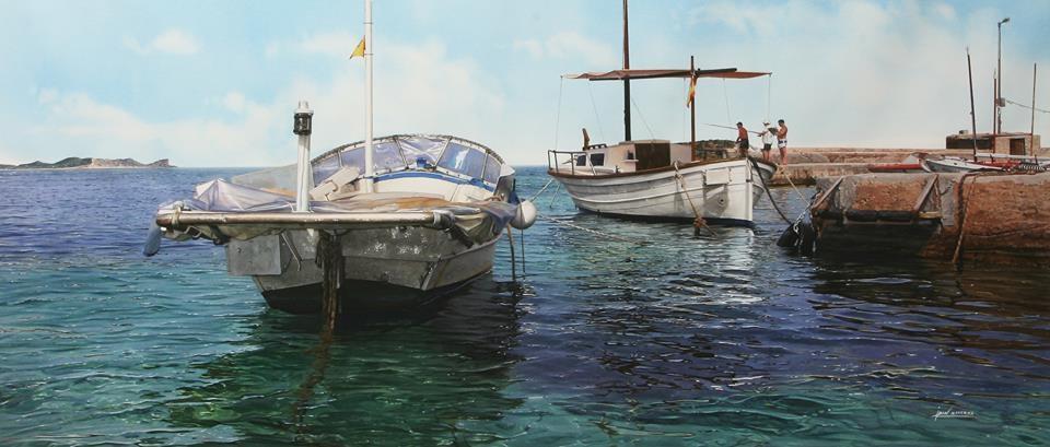 09-Iban-Navarro-Watercolour-Paintings-of-the-Seaside-that-look-like-Photographs-www-designstack-co