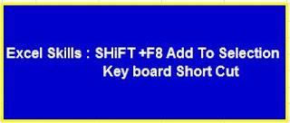 Excel Skills : SHiFT +F8 Add To Selection   Key board Short Cut