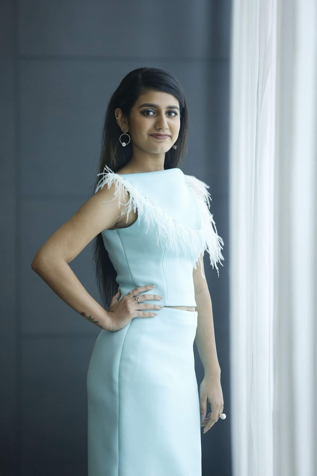 Actress Priya Prakash Varrier Photos At Lovers Day Movie Promotions Latest Indian Hollywood Movies Updates Branding Online And Actress Gallery