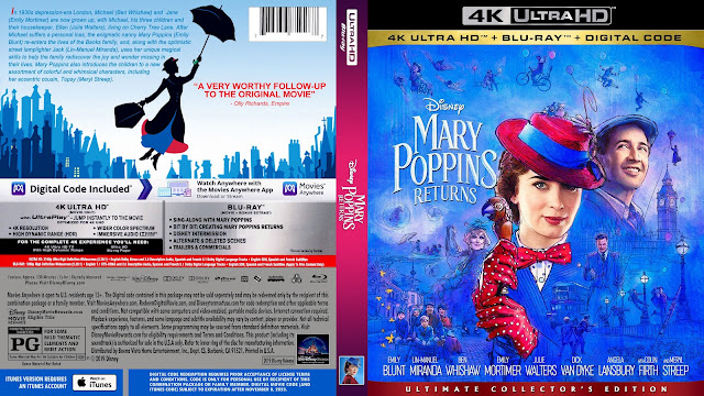 Mary Poppins Returns 4K Bluray Cover