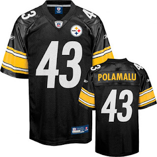 Big and Tall Troy Polamalu Steelers Jersey