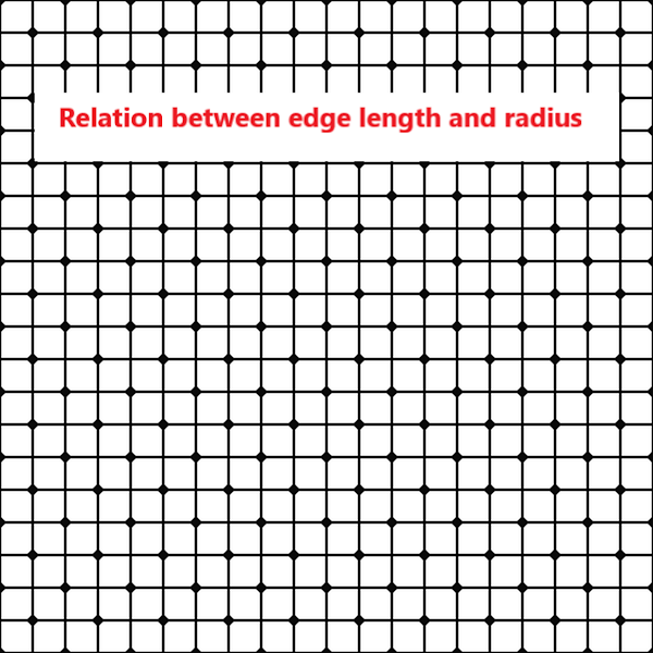 Relation between edge length and radius in simple unit, Fcc, Bcc, and Hcp