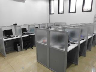 Meja Partisi Kantor Model Hadap + Furniture Semarang (Cubicle Workstation)