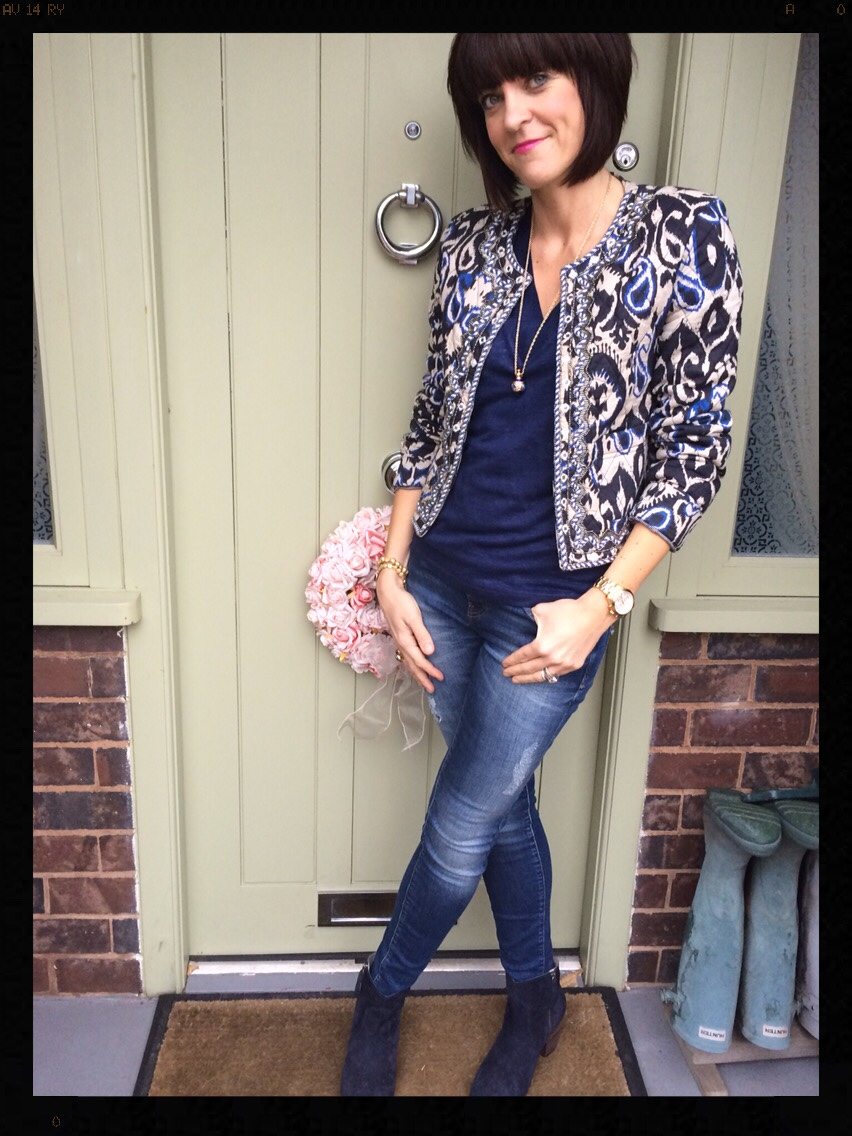 Mango, Zara, My Midlife Fashion, Quilted Jacket, Skinny Jeans, Boden, Boho boots, Eternal Collection
