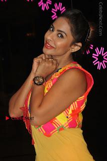 Telugu Actress Model Sri Reddy Latest Stills in Yellow Dress  0029.JPG