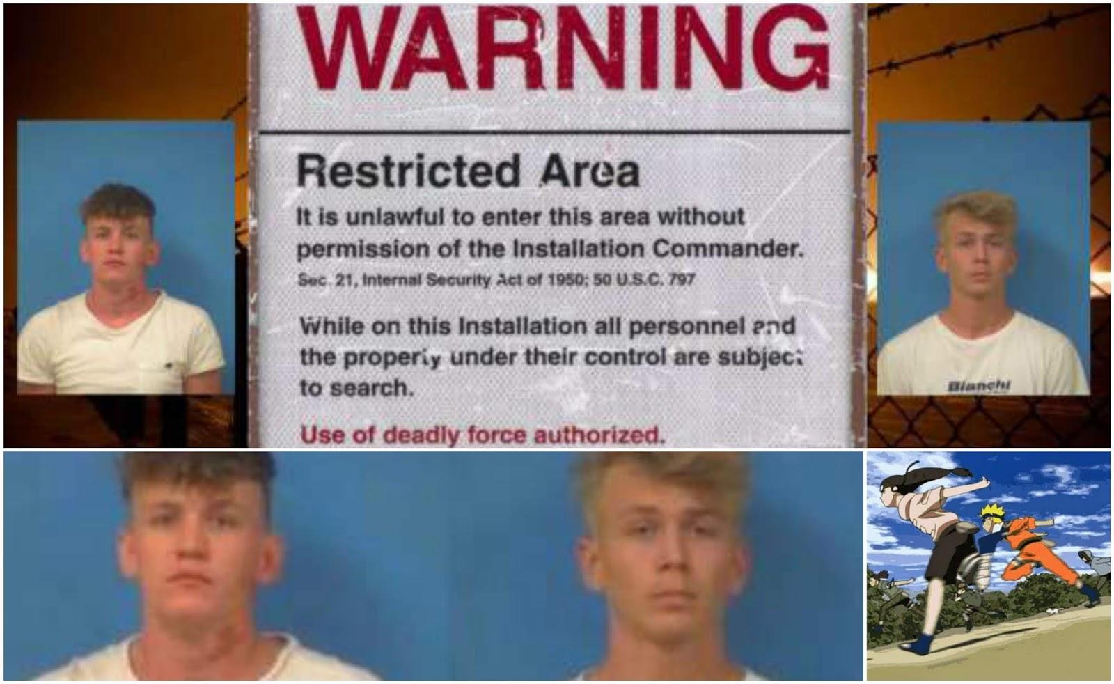 Dos Youtubers arrestados por intento de asalto en Área 51 ¿Corredores de Naruto?