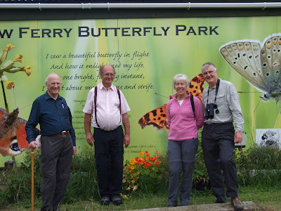 Cheshire Wildlife Trust's chairman Bill Stothart and his wife Catherine visiting the Butterfly Park