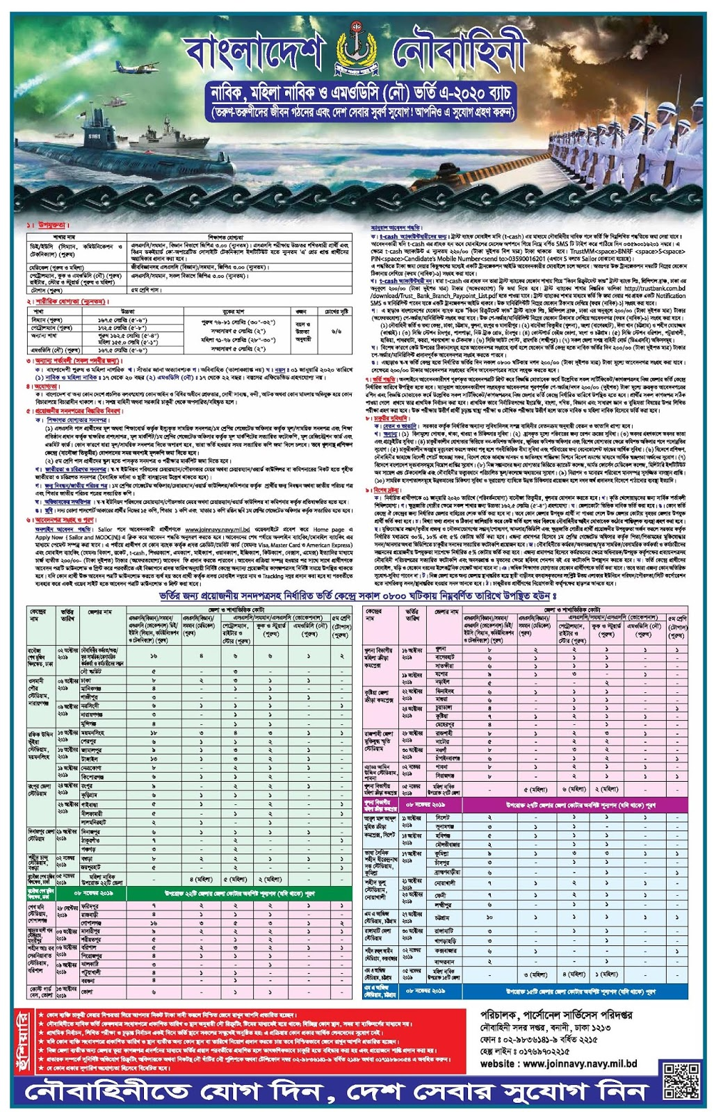 বাংলাদেশ নৌবাহিনী নিয়োগ বিজ্ঞপ্তি ২০১৯/২০২০
