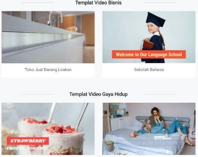 template membuat video pembelajaran
