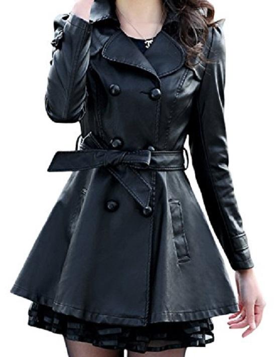 Long leather jacket