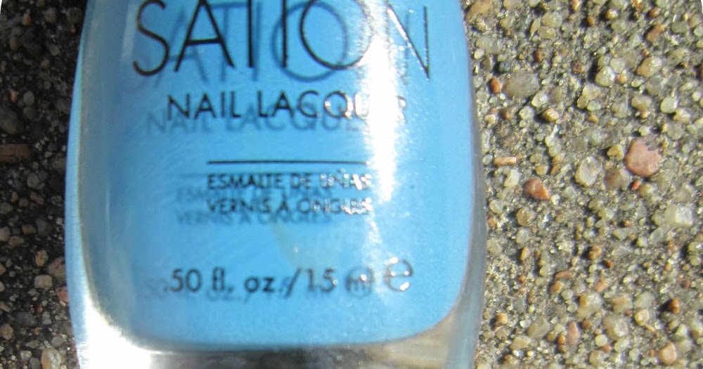 Concrete And Nail Polish Sation Board Girl Blue