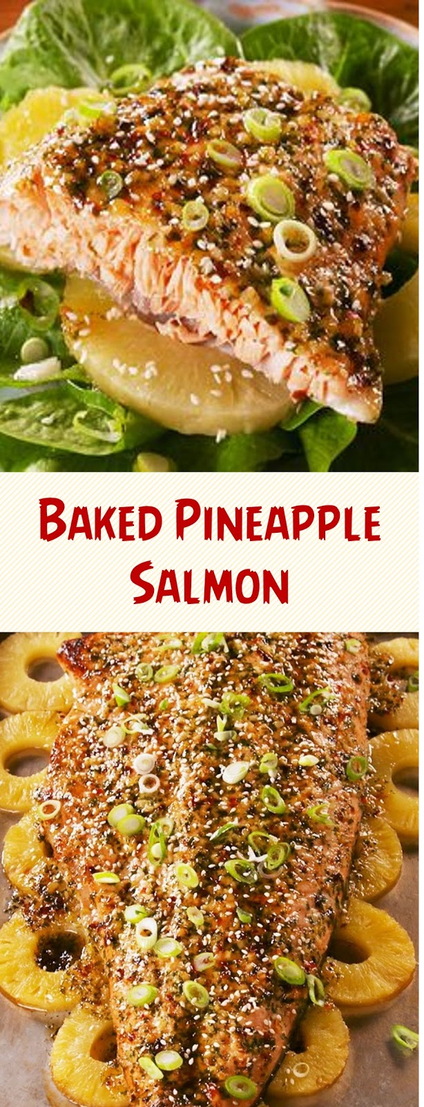Baked Pineapple Salmon