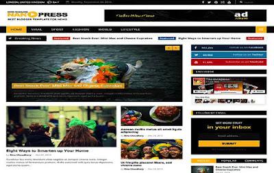 Download Free Nanopress Premium Blogger Template