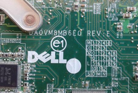 DA0VM8MB6E0 REV E DELL 1410 Laptop Bios