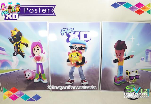 Poster Pk Xd Game dicas e ideias para decoração de festa personalizados