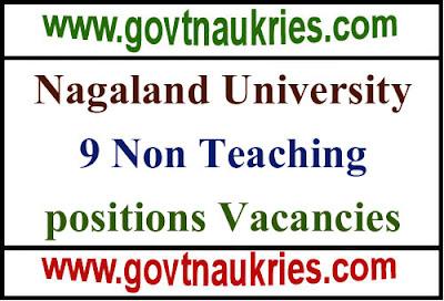 Nagaland University Recruitment 2019