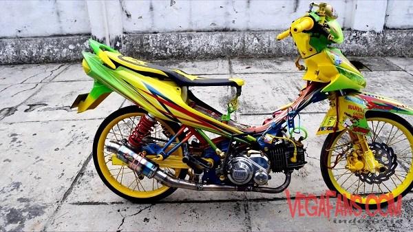 Modifikasi Vega ZR Ala Motor Kontes Kuning Wow