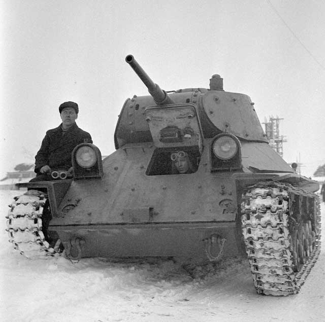 Captured Soviet T-50 tank used by Finns, 15 February 1942 worldwartwo.filminspector.com