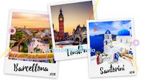 Logo Michelin concorso #BastaMeno : vinci gratis viaggi a Barcellona, Londra, Santorini