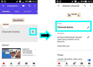 Cara Mudah Mengganti Nama Channel Youtube di Android