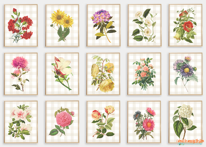 Vintage Floral Printables