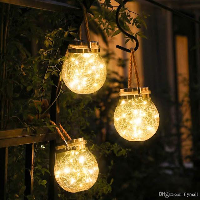 Solar Lantern Garden Jar Lights 30 LED