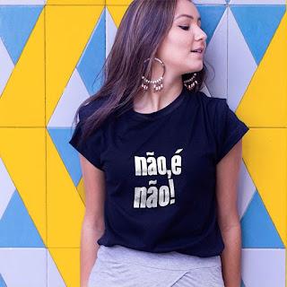 Camiseta feminista - Não, É Não!