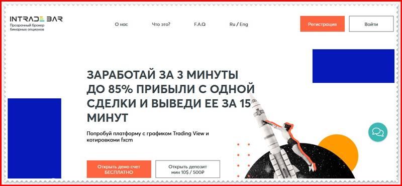 [Мошеннический сайт] inbar.pro – Отзывы, развод? Компания Intrade Bar LTD мошенники!