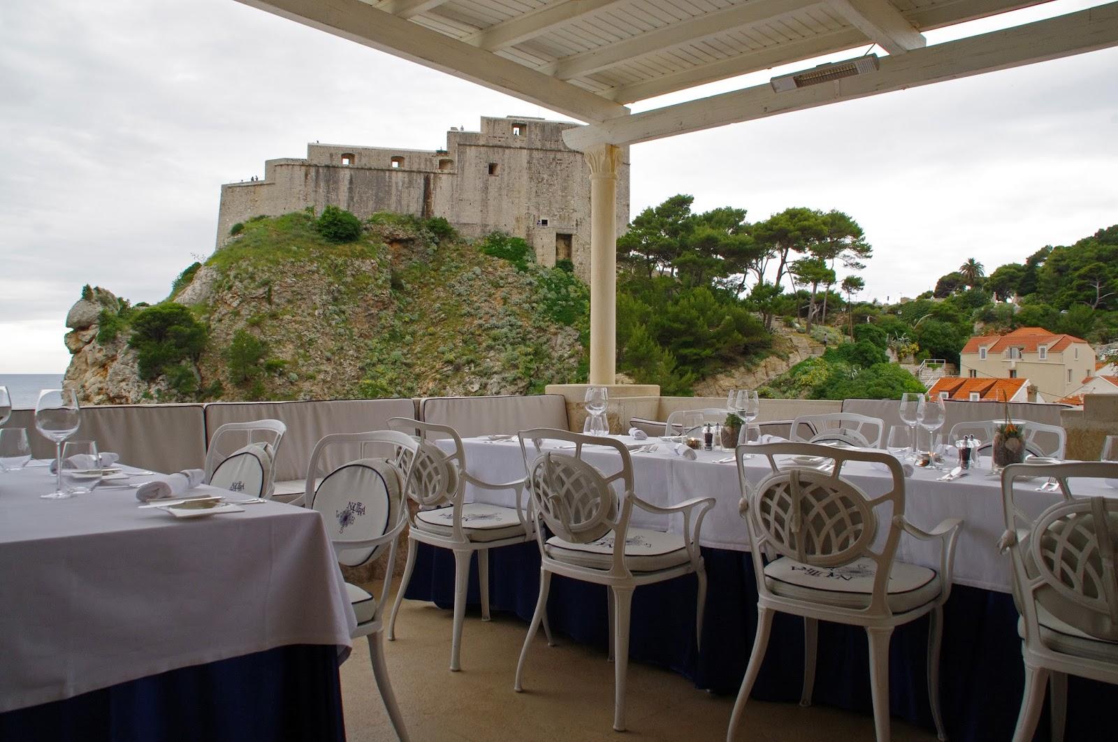 Private terrace Nautika Restaurant Dubrovnik