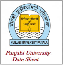 Punjabi University Patiala Master degree, certificate programs diploma 2017-18 date sheet download