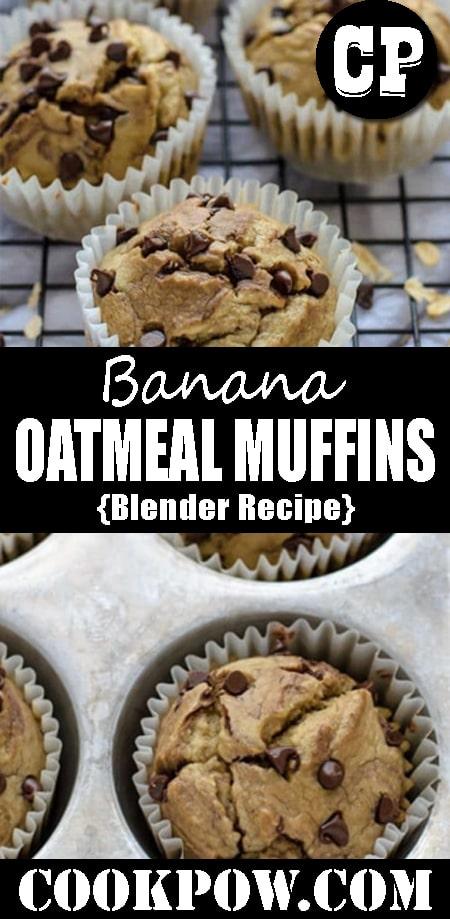 #Banana #Oatmeal #Muffins - Blender #Recipe
