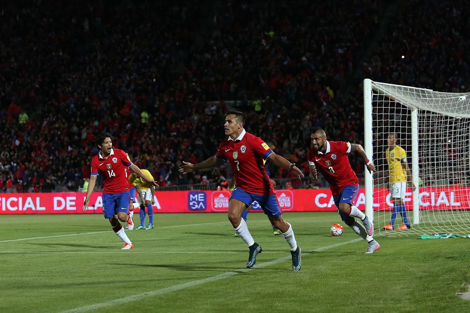 Chile y Brasil en Clasificatorias a Rusia 2018, 8 de octubre de 2015