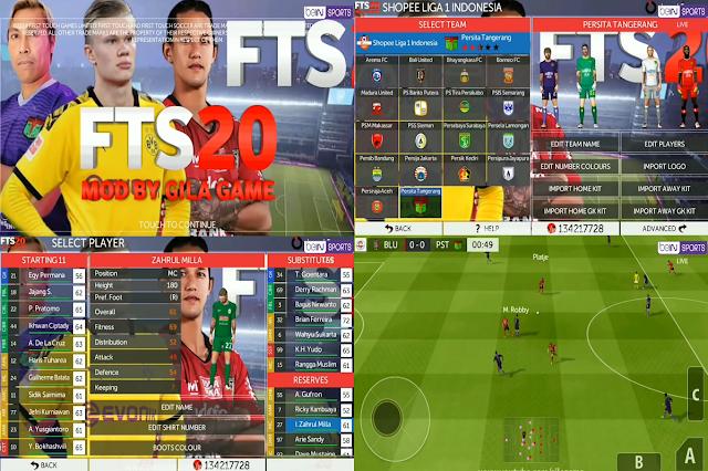 FTS 20 New Update League Eropa & Liga 1 Indonesia 2020 HD