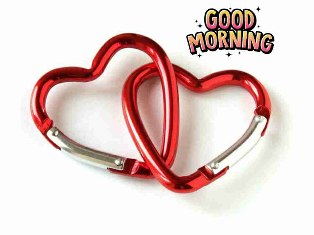 Beautiful good morning photo image with love hearts