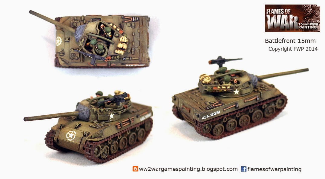 Painted WW2 Tanks. M18 Tank Destroyer Battlefront 15mm