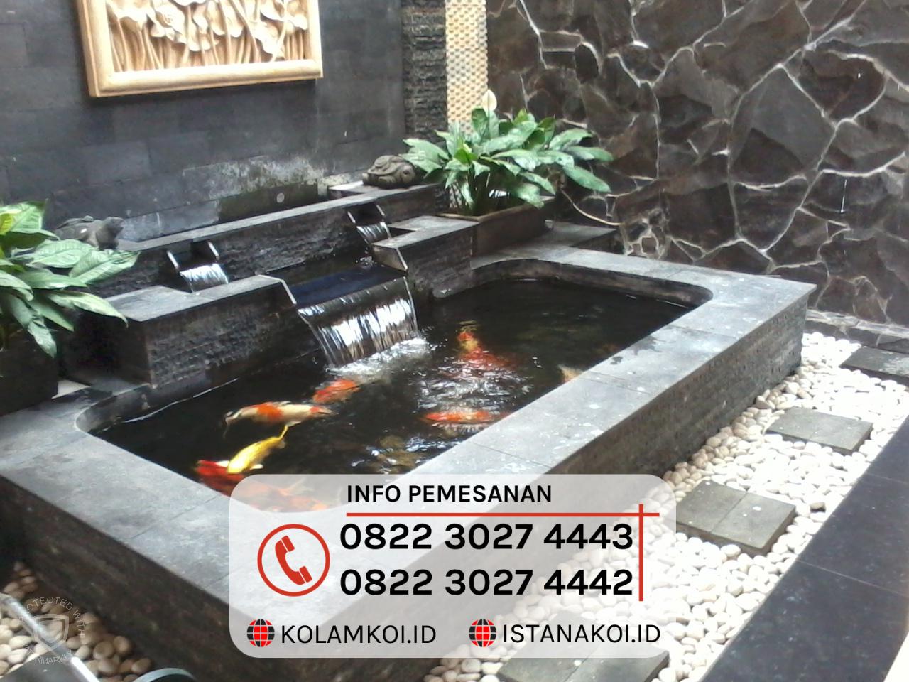 Kolam Ikan Koi Sederhana Design Minimalis Di Jambi Istana Koi